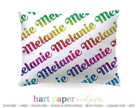 Rainbow Name Personalized Pillowcase Pillowcases - Everything Nice