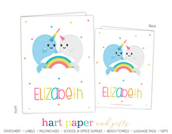 Narwhal Rainbow 2-Pocket Folder School & Office Supplies - Everything Nice