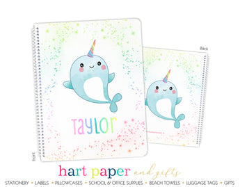 Narwhal Personalized Notebook or Sketchbook School & Office Supplies - Everything Nice