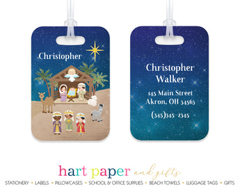 Nativity Scene Luggage Bag Tag School & Office Supplies - Everything Nice