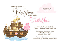Noah's Ark Baby Shower Invitation • Any Colors Baby Shower Invitations - Everything Nice
