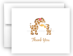 Giraffe Thank You Cards Note Card Stationery •  Flat, Folded or Fill-In-the-Blank Stationery Thank You Cards - Everything Nice