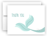 Mermaid Tail c Thank You Cards Note Card Stationery •  Flat, Folded or Fill-In-the-Blank Stationery Thank You Cards - Everything Nice