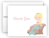 Mermaid e Thank You Cards Note Card Stationery •  Flat or Folded Stationery Thank You Cards - Everything Nice