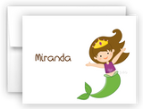 Mermaid g Thank You Cards Note Card Stationery •  Flat, Folded or Fill-In-the-Blank Stationery Thank You Cards - Everything Nice