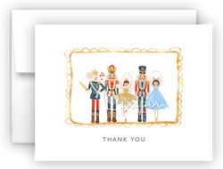 Nutcracker Thank You Cards Note Card Stationery •  Flat, Folded or Fill-In-the-Blank Stationery Thank You Cards - Everything Nice