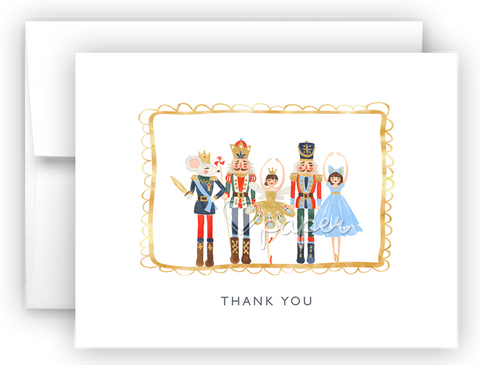 Nutcracker Thank You Cards Note Card Stationery •  Flat or Folded Stationery Thank You Cards - Everything Nice