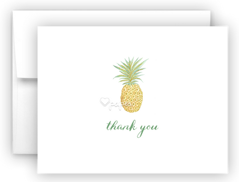 Pineapple Thank You Cards Note Card Stationery •  Flat, Folded or Fill-In-the-Blank