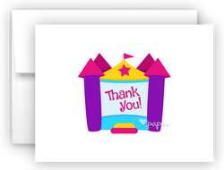 Bounce House Thank You Cards Note Card Stationery •  Flat, Folded or Fill-In-the-Blank Stationery Thank You Cards - Everything Nice