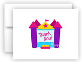 Bounce House Thank You Cards Note Card Stationery •  Flat or Folded Stationery Thank You Cards - Everything Nice