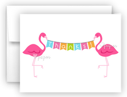 Pink Flamingo Thank You Cards Note Card Stationery •  Flat, Folded or Fill-In-the-Blank
