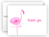 Pink Flamingo II Thank You Cards Note Card Stationery •  Flat, Folded or Fill-In-the-Blank
