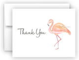 Pink Flamingo III Thank You Cards Note Card Stationery •  Flat, Folded or Fill-In-the-Blank
