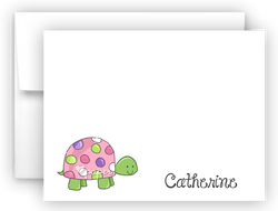 Polka Dot Turtle Thank You Cards Note Card Stationery •  Flat, Folded or Fill-In-the-Blank