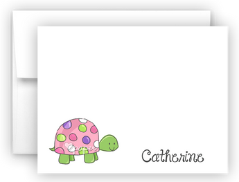 Polka Dot Turtle Thank You Cards Note Card Stationery •  Flat or Folded Stationery Thank You Cards - Everything Nice