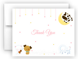 Hey Diddle Diddle Nursery Rhyme Printed Thank You Cards • Folded Flat Note Card Stationery