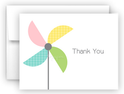 Pinwheel Thank You Cards Note Card Stationery •  Flat, Folded or Fill-In-the-Blank