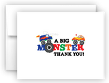 Monster Truck Thank You Cards Note Card Stationery •  Flat, Folded or Fill-In-the-Blank