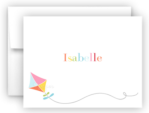 Rainbow Kite Thank You Cards Note Card Stationery •  Flat or Folded Stationery Thank You Cards - Everything Nice