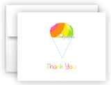 Rainbow Sno Cone Thank You Cards Note Card Stationery •  Flat, Folded or Fill-In-the-Blank