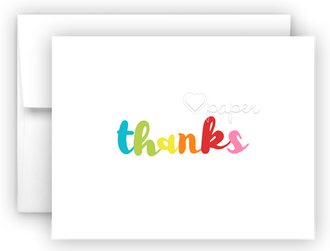 Rainbow thanks Thank You Cards Note Card Stationery •  Flat or Folded Stationery Thank You Cards - Everything Nice