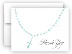 Rosary Thank You Cards Note Card Stationery •  Flat, Folded or Fill-In-the-Blank