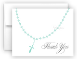 Rosary Thank You Cards Note Card Stationery •  Flat, Folded or Fill-In-the-Blank Stationery Thank You Cards - Everything Nice