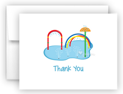 Splash Pad Thank You Cards Note Card Stationery •  Flat, Folded or Fill-In-the-Blank Stationery Thank You Cards - Everything Nice