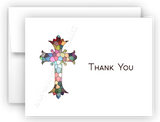 Stained Glass Cross Thank You Cards Note Card Stationery •  Flat or Folded Stationery Thank You Cards - Everything Nice