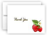 Strawberry Thank You Cards Note Card Stationery •  Flat, Folded or Fill-In-the-Blank