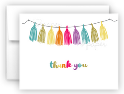 Rainbow Tassel Thank You Cards Note Card Stationery •  Flat, Folded or Fill-In-the-Blank Stationery Thank You Cards - Everything Nice