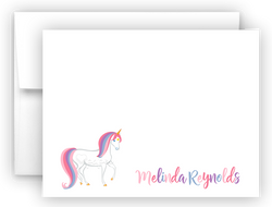 Rainbow Unicorn g Thank You Cards Note Card Stationery •  Flat, Folded or Fill-In-the-Blank Stationery Thank You Cards - Everything Nice