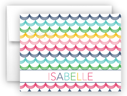 Rainbow Mermaid Scales b Thank You Cards Note Card Stationery •  Flat, Folded or Fill-In-the-Blank
