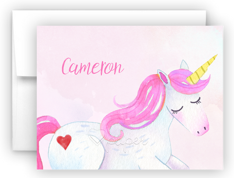 Unicorn m Thank You Cards Note Card Stationery •  Flat or Folded Stationery Thank You Cards - Everything Nice