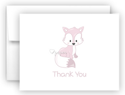 Arctic Fox Thank You Cards Note Card Stationery •  Flat, Folded or Fill-In-the-Blank Stationery Thank You Cards - Everything Nice