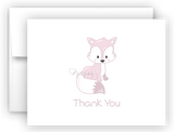 Arctic Fox Thank You Cards Note Card Stationery •  Flat or Folded Stationery Thank You Cards - Everything Nice