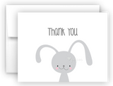 Bunny Rabbit Thank You Cards Note Card Stationery •  Flat, Folded or Fill-In-the-Blank