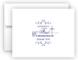 First Communion Thank You Cards Note Card Stationery •  Flat or Folded Stationery Thank You Cards - Everything Nice