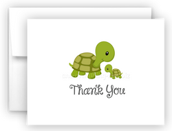 Turtle Thank You Cards Note Card Stationery •  Flat, Folded or Fill-In-the-Blank