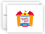 Bounce House Thank You Cards Note Card Stationery •  Flat, Folded or Fill-In-the-Blank
