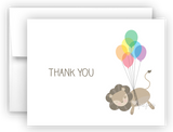 Lion Thank You Cards Note Card Stationery •  Flat or Folded Stationery Thank You Cards - Everything Nice
