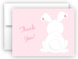 Bunny Rabbit b Thank You Cards Note Card Stationery •  Flat, Folded or Fill-In-the-Blank Stationery Thank You Cards - Everything Nice