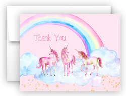 Unicorn s Thank You Cards Note Card Stationery •  Flat, Folded or Fill-In-the-Blank