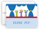 Puppet Show Thank You Cards Note Card Stationery •  Flat, Folded or Fill-In-the-Blank