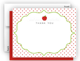 Apple II Thank You Cards Note Card Stationery •  Flat, Folded or Fill-In-the-Blank Stationery Thank You Cards - Everything Nice