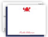Crab b Thank You Cards Note Card Stationery •  Flat Cards Stationery Thank You Cards - Everything Nice