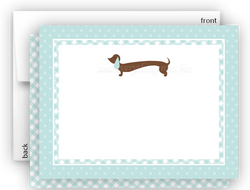 Dachshund Dog c Thank You Cards Note Card Stationery •  Flat, Folded or Fill-In-the-Blank Stationery Thank You Cards - Everything Nice