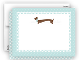 Dachshund Dog c Thank You Cards Note Card Stationery •  Flat Cards Stationery Thank You Cards - Everything Nice