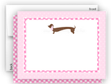 Dachshund Dog d Thank You Cards Note Card Stationery •  Flat, Folded or Fill-In-the-Blank