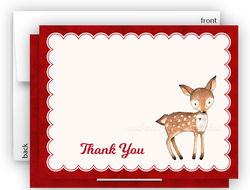 Deer b Thank You Cards Note Card Stationery •  Flat, Folded or Fill-In-the-Blank Stationery Thank You Cards - Everything Nice